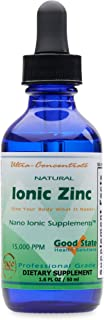 Good State Natural Ionic Zinc   Liquid Concentrate   Nano Sized Mineral Technology   Professional Grade Dietary Supplement   1.6 fl oz Glass Bottle (50 mL)