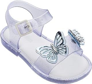 Mini Melissa Mar Sandal Fly BB Silver Glitter Size 8M