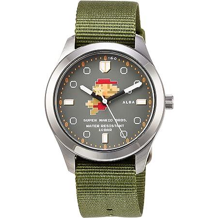 [セイコーウォッチ] 腕時計 アルバ スーパーマリオ コラボレーションモデル スイミングマリオデザイン グレー文字盤 日常生活用強化防水(10気圧) ACCK424 グリーン