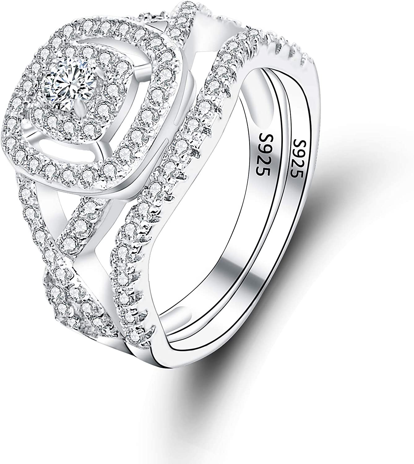EVER High material FAITH 925 Sterling Silver Elegant CZ New arrival Enga Wedding Pave Full