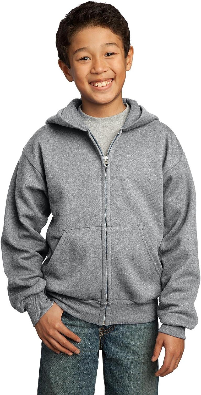 Port & Company Youth Fleece Full-Zip Hooded Sweatshirt