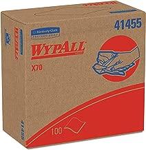 WypAll 41455 X70 Cloths, POP-UP Box, 9 1/10 x 16 4/5, White, 100 per Box (Case of 10 Boxes)