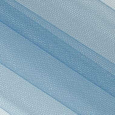 Falk Fabrics 108'' Apparel Grade Tulle Antique Blue Fabric Fabric by the Yard
