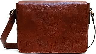 Floto Firenze Messenger Bag in Brown Full Grain Calfskin Leather