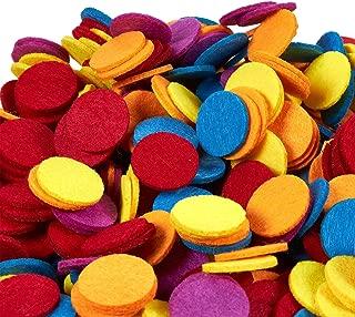 Juvale Felt Circles - 1000-Count Round Felt Shape Embellishments, Felt Ornaments for DIY Art and Craft Decoration Projects, Assorted Colors