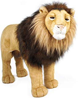 VIAHART Laurent The Lion | 34 Inch Stuffed Big Cat Standing Animal Plush | Shipping from Texas | by Tiger Tale Toys