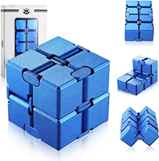 open up to love Infinity Cube Fidget Anxiety Relief Toy Hand Killing Time Prime Infinite Cube for ADD, ADHD, Anxiety, and Autism Adult and Children (Blue)