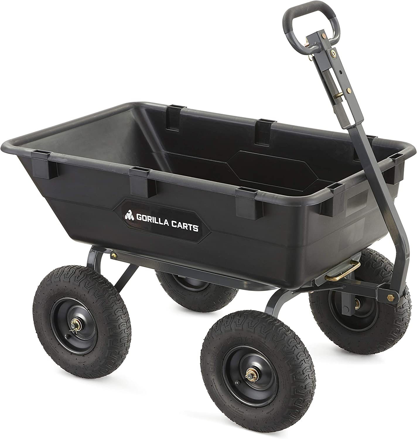 OFFicial Gorilla Carts Heavy-Duty Poly Yard Selling Convertibl 2-In-1 Dump Cart