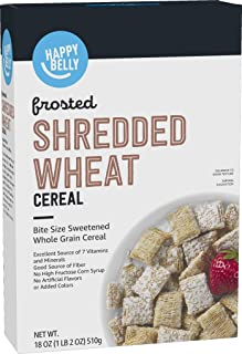 Amazon Brand - Happy Belly Frosted Shredded Wheat Cereal, 18 Ounce