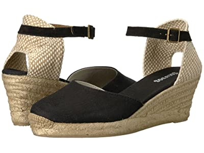 Soludos Closed-Toe Midwedge 70mm (Black) Women