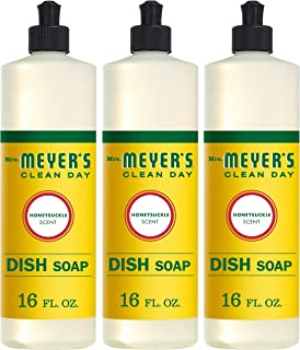 Mrs. Meyer's Clean Day Liquid Dish Soap, Honeysuckle,OO, 16 Ounce Bottle