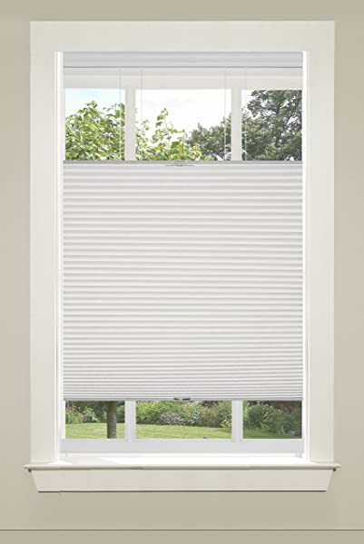 Achim Home Furnishings Top Down Cordless Honeycomb Cellular Pleated Shade 33 By 64 White