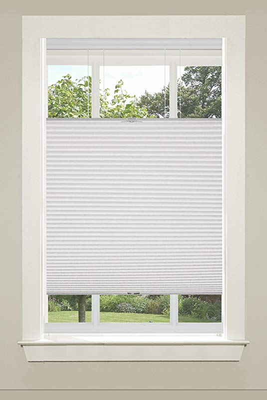 Achim Home Furnishings Top Down Cordless Honeycomb Cellular Pleated Shade 35 By 64 White
