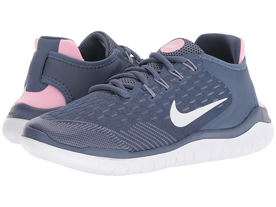 Nike Kids Free RN 2018 (Big Kid) (Diffused Blue/White/Ashen Slate/Pink) Girls Shoes