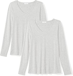 Amazon Brand - Daily Ritual Women's Jersey Long-Sleeve V-Neck T-Shirt