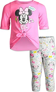 Disney Minnie Mouse Girls Fashion Top and Leggings Set