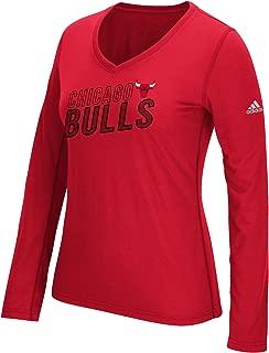 NBA Chicago Bulls Women's Stacked Long Sleeve Ultimate Tee, Medium, Red