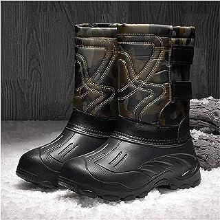 YZZ Étanche Hommes Bottes d'hiver Bottes de Neige Fourrure Chaude Chaussures Hiver Cheville Homme Chaussures Homme Chaussu...