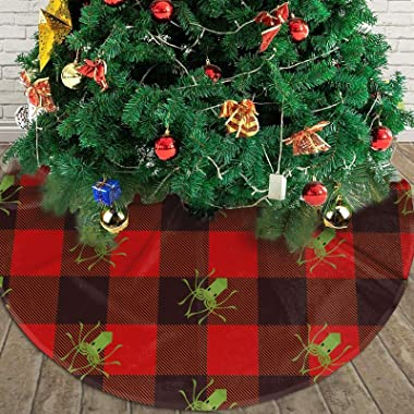 "Christmas Tree Skirt Kraken Rustic Xmas Tree Decoration 36"""