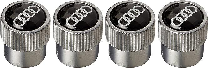 AUDI New Carbon Fiber Valve Stem Caps Rings Logo Set of 4
