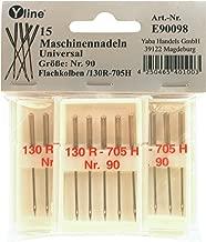 R/éf/érence/: E90097 15 aiguilles universelles pour machine /à coudre Piston plat/: 130//705H Num/éro  80