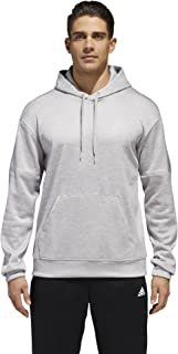 adidas Men's Athletics Team Issue Full-Zip Fleece Hoodie, Grey Two Melange/White, Large