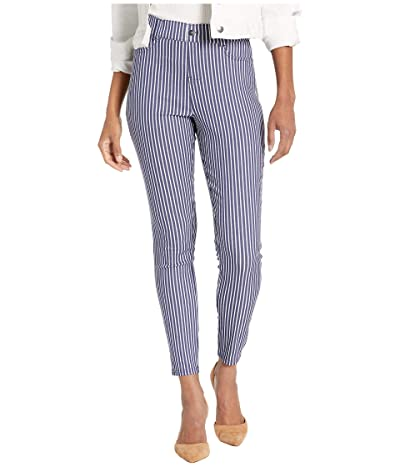 HUE Striped Ultra Soft Denim High-Waist Leggings (Indigo Stripe) Women