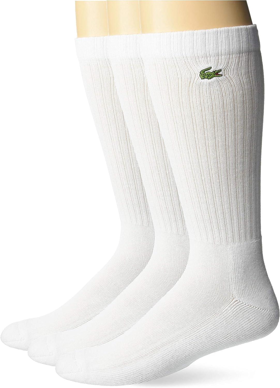 Lacoste mens Sport 3-pack Cotton Blend Tube Socks