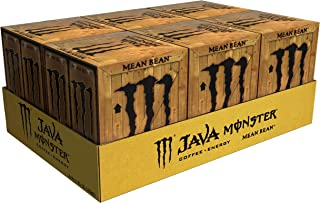 Java Monster Mean Bean, Coffee + Energy Drink, 11 Fl Oz per can, Pack of 24