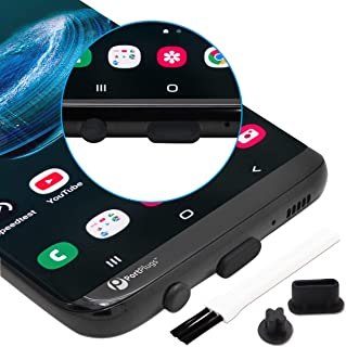 PortPlugs Anti Dust Plugs USB C (10 Pairs) - Compatible with Samsung s10, s8, s9 Plus, Note 9, Pixel, Any Type C with Headset Jack Silicone (Black)