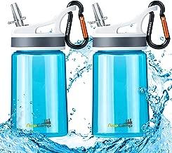 AceCamp 2 Pack-Kids Water Bottle,Eastman Tritan Kid Water Bottle BPA Free&FDA Approved Sports Water Bottle 12 Oz Portable Leakproof