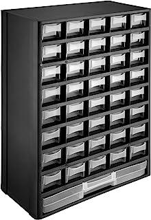 tectake 402873 Módulo Clasificador para Piezas Pequeñas, 41 Cajones Extraíbles, Cajas de Almacenamiento, Módulos Organizad...