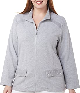 Alfred Dunner Women's French Terry Trim Jacket