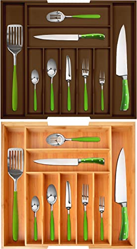 lowest Silverware Drawer Organizers discount Brown lowest and Natural Colors online sale