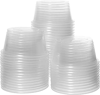 Crystalware, Disposable 2oz. Plastic Portion Cups (No Lids) Condiment Cup, Jello Shot, Soufflé Portion, Sampling Cup, 100 Cups Clear (100 Cups)