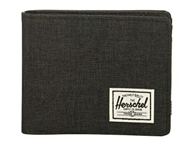 Herschel Supply Co. Hank RFID (Black Crosshatch/Black) Wallet Handbags