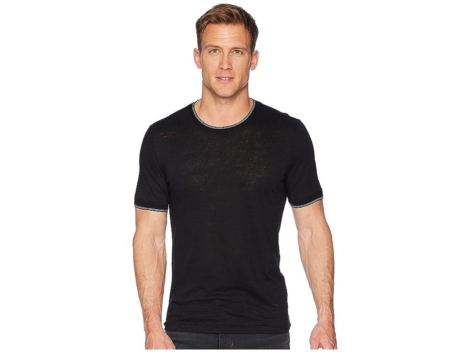 Vince Sweater Rib Short Sleeve (Black) Men