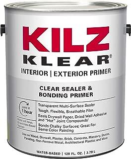 KILZ L220101 KLEAR Multi-Surface Stain Blocking Interior/Exterior Latex Primer/Sealer, Clear, 1-Gallon, 1 Gallon, 4 l