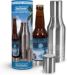 Beer Bottle Insulator - Double Wall Stainless Steel Beer Holder Keeps Your Beer Colder. Fits 12oz Beer Bottles. Includes E-Book + Gift Box.
