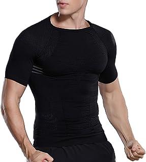 【超加圧版】加圧シャツ メンズ 加圧インナー コンプレッションウェア ダイエット 補正下着 猫背矯正 スポーツインナー トレーニング お腹引き締め 脂肪燃焼 通気 伸縮