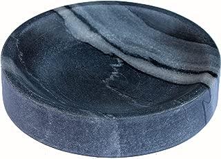 KLEO Natural Stone Soap Dish Soap Holder Bath Accessories For Bathroom, Tub or Wash Basin Accessory (Black)