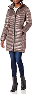 Calvin Klein womens Walker Packable Jacket With Hood and Stand Collar