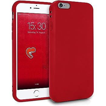 SDTEK Custodia iPhone 6s (Rosso) Cover Case Bumper Caso Matte