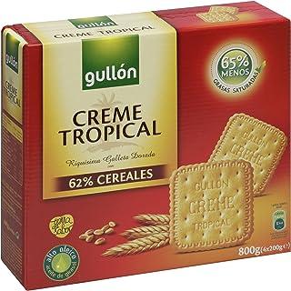 Gullón Creme Tropical Galletas - Pack de 4 x 200 g - Total: 800 g