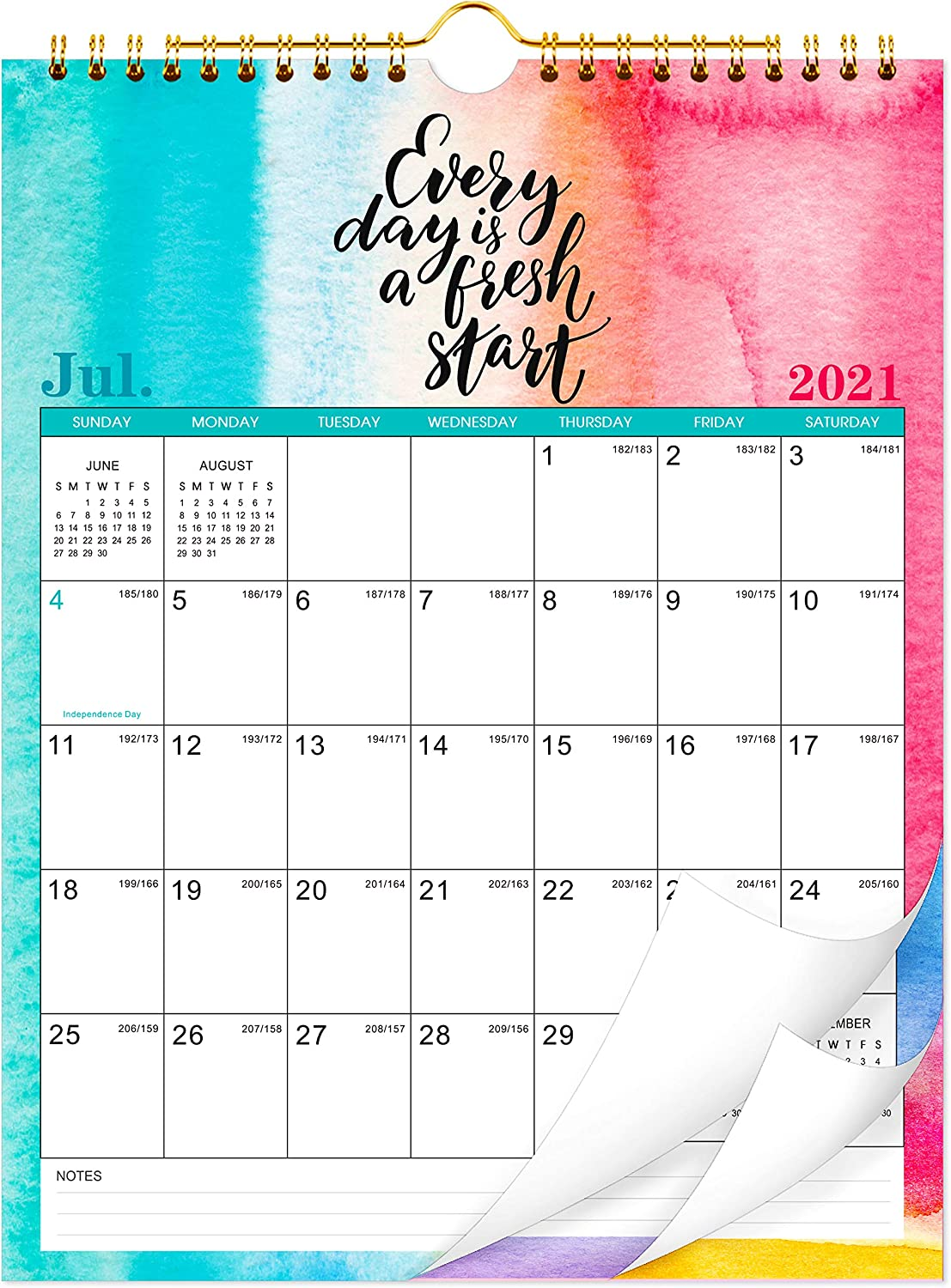 2021-2022 Calendar Max 78% OFF - Monthly Year-end gift Wall with Thick 8.5 Paper
