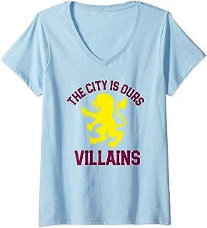 Womens Aston Soccer Shirt Villa English City Birmingham Gift Top V-Neck T-Shirt