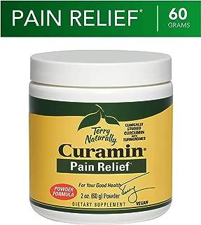 Terry Naturally Curamin Powder - 60 Grams - Non-Addictive Pain Relief Supplement with Curcumin from Turmeric, Boswellia & DLPA - Vegan, Non-GMO, Gluten-Free - 27 Servings