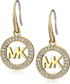Michael Kors MK Logo Drop Earrings