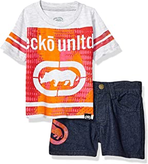 Marc Ecko Baby-Boys P101KB Short Sleeve Graphic T-Shirt and Denim Short Shorts Set