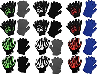 Boys Soft Winter Magic Gloves Assorted - 12 Twin Packs - 24 Pairs of Printed Gloves
